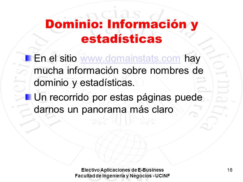 Dominio: Información y estadísticas