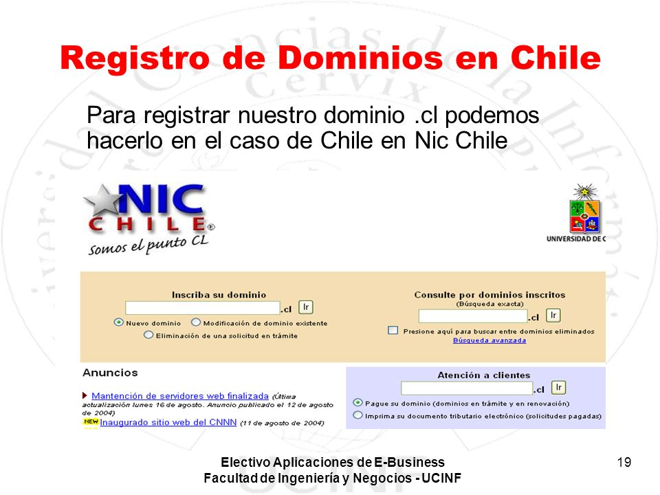 Registro de Dominios en Chile