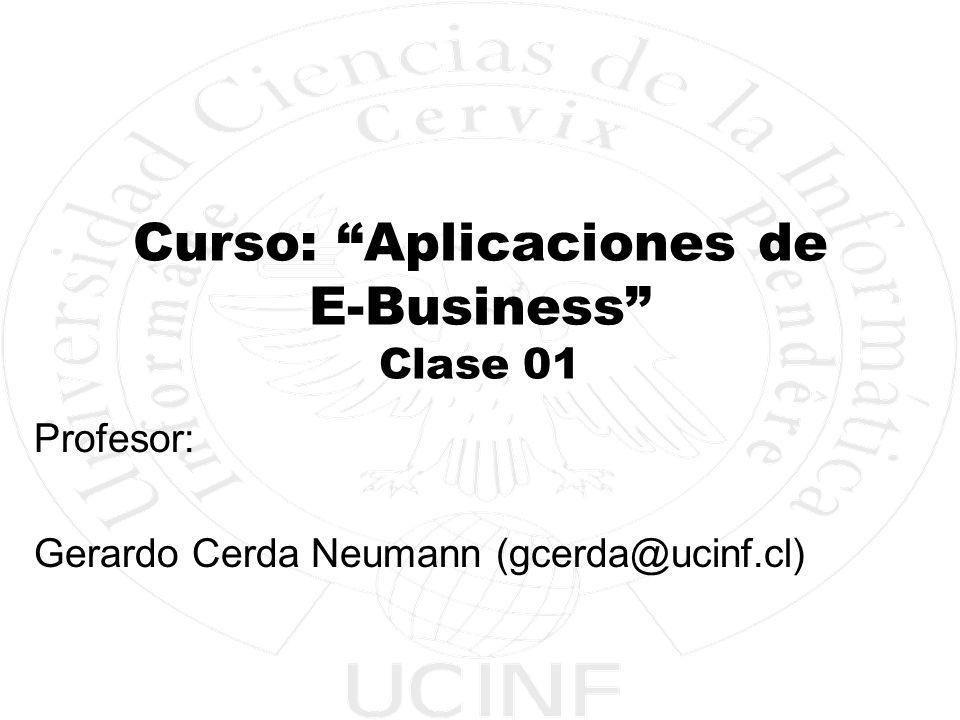 Curso: Aplicaciones de E-Business Clase 01