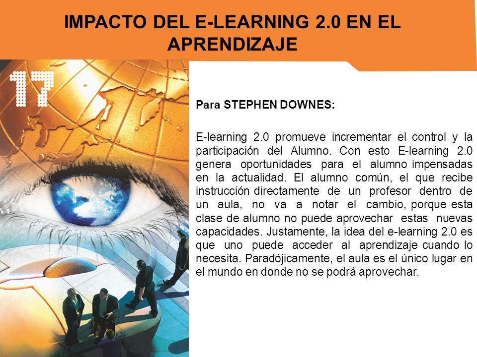 IMPACTO DEL E-LEARNING 2.0 EN EL APRENDIZAJE