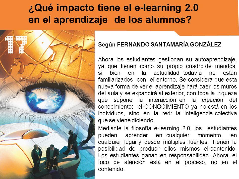 ¿Qué impacto tiene el e-learning 2.0 en el aprendizaje de los alumnos
