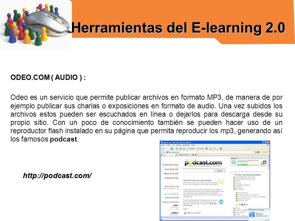 Herramientas del E-learning 2.0