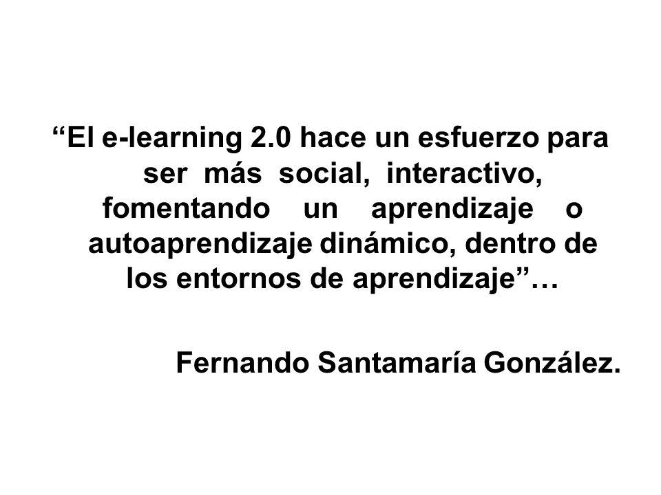 El e-learning 2.0 hace un esfuerzo para ser más social, interactivo, fomentando un aprendizaje o autoaprendizaje dinámico, dentro de los entornos de aprendizaje …