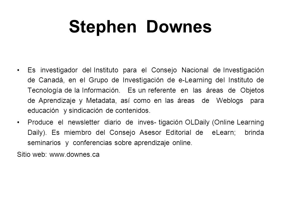 Stephen Downes