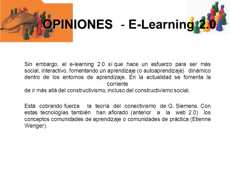 OPINIONES - E-Learning 2.0