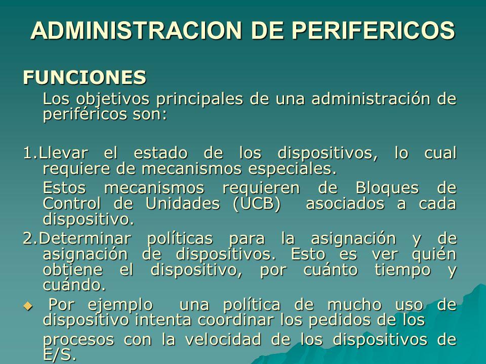 ADMINISTRACION DE PERIFERICOS
