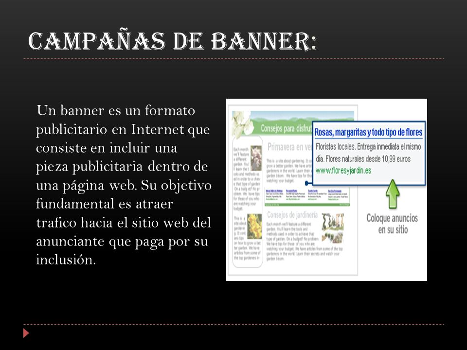 CAMPAÑAS DE BANNER: