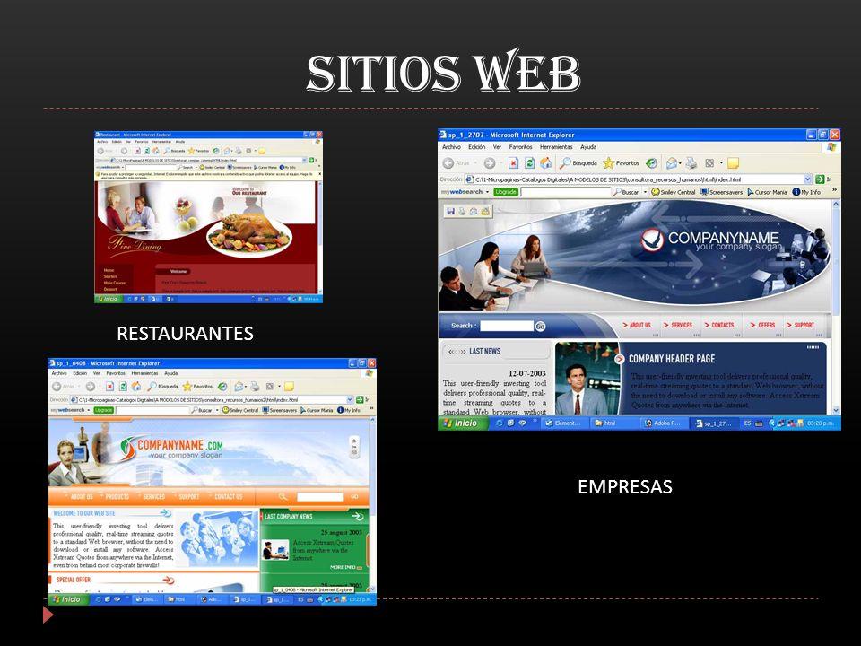 sitios WEB RESTAURANTES EMPRESAS