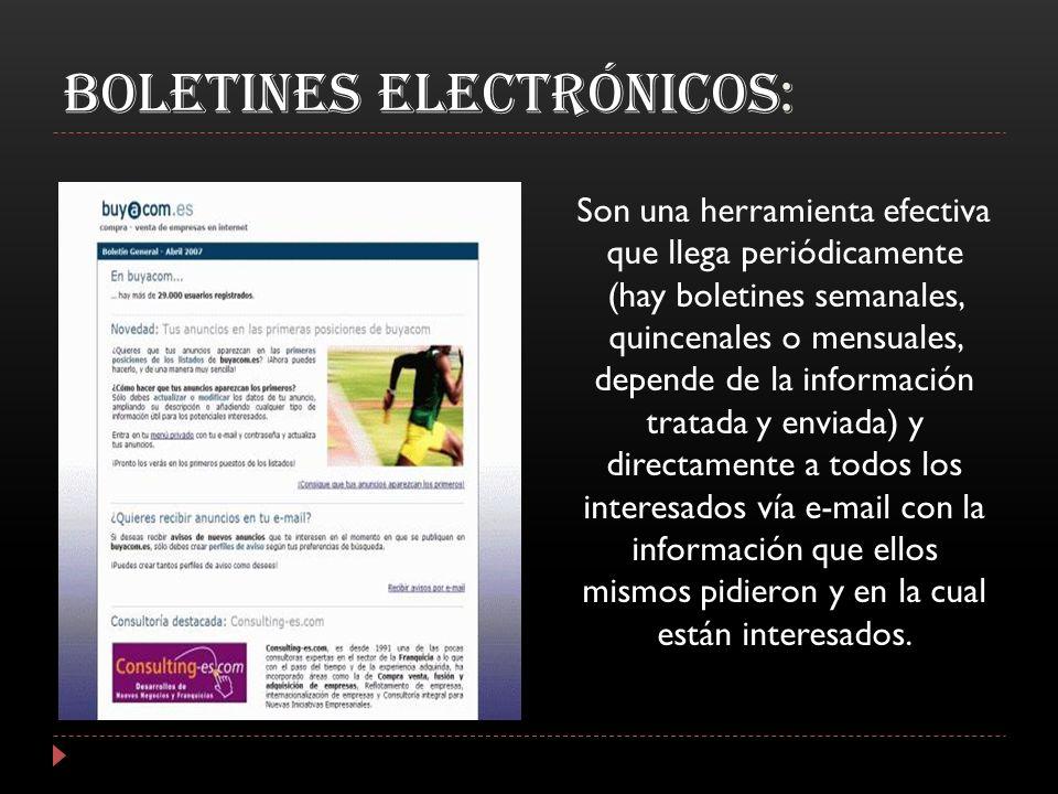 Boletines Electrónicos: