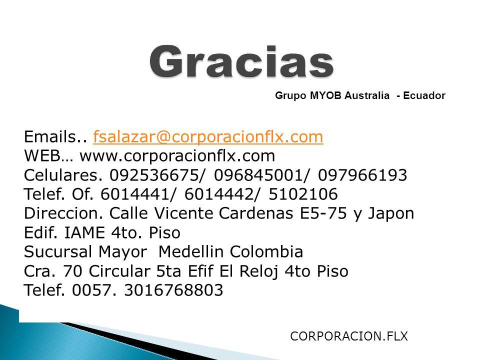 Gracias Emails.. fsalazar@corporacionflx.com