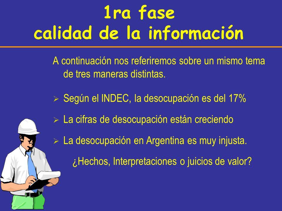 1ra fase calidad de la información