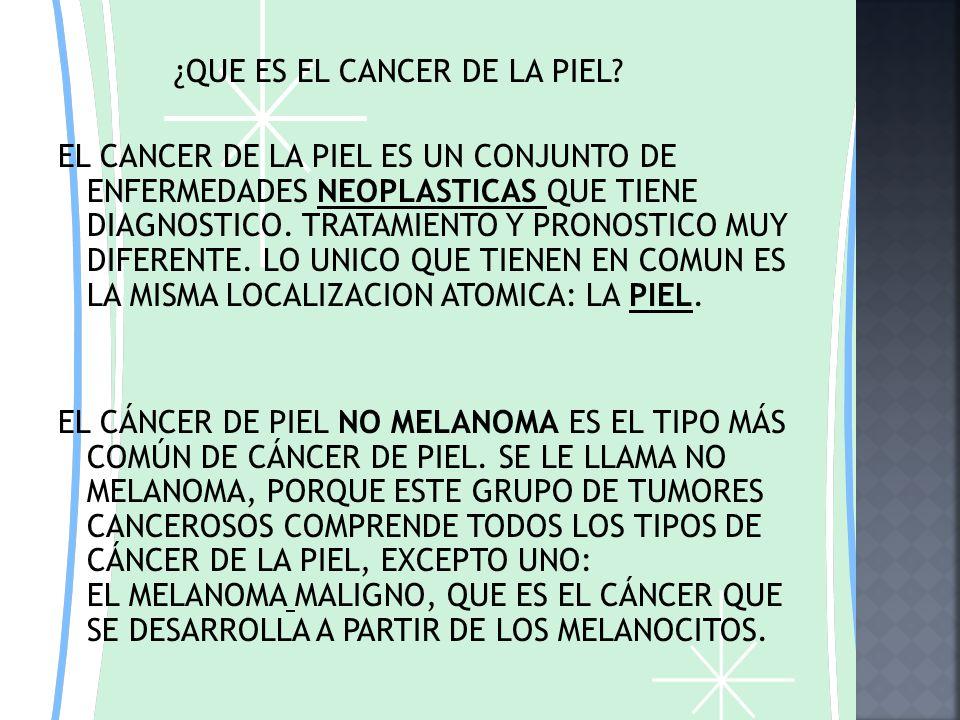 ¿QUE ES EL CANCER DE LA PIEL