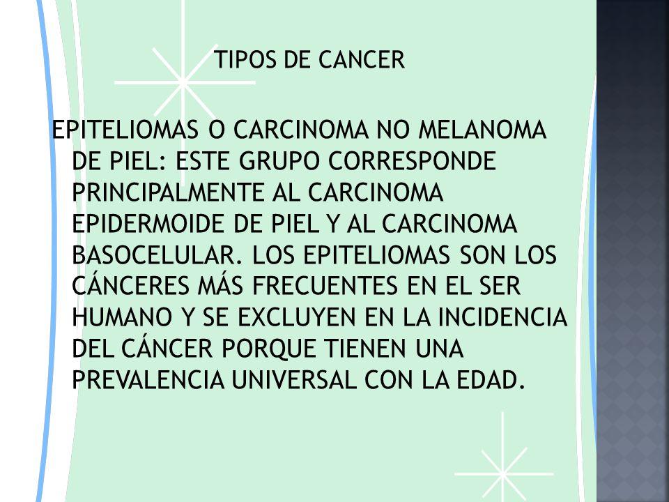 TIPOS DE CANCER