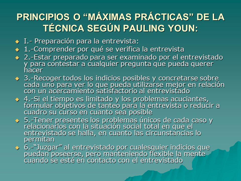 PRINCIPIOS O MÁXIMAS PRÁCTICAS DE LA TÉCNICA SEGÚN PAULING YOUN: