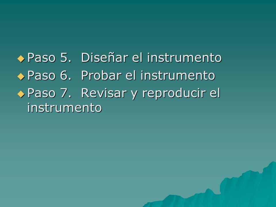 Paso 5. Diseñar el instrumento