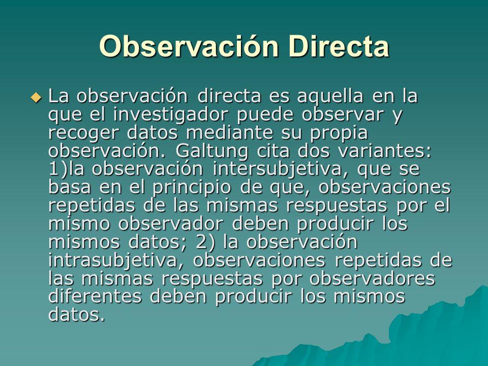 Observación Directa
