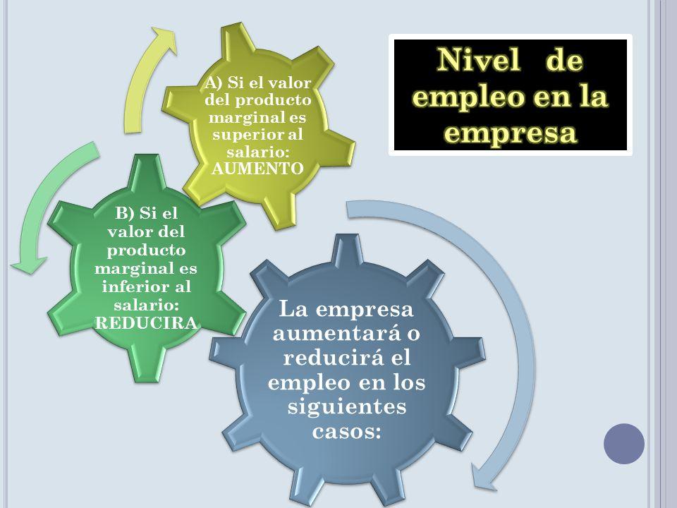 Nivel de empleo en la empresa