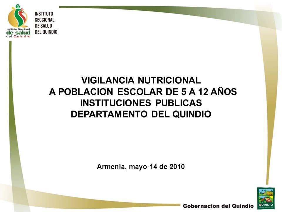 VIGILANCIA NUTRICIONAL A POBLACION ESCOLAR DE 5 A 12 AÑOS