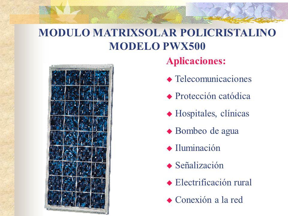 MODULO MATRIXSOLAR POLICRISTALINO MODELO PWX500
