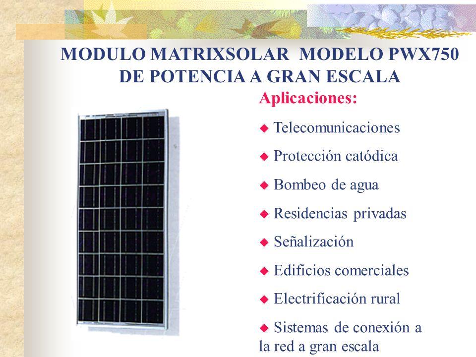 MODULO MATRIXSOLAR MODELO PWX750 DE POTENCIA A GRAN ESCALA