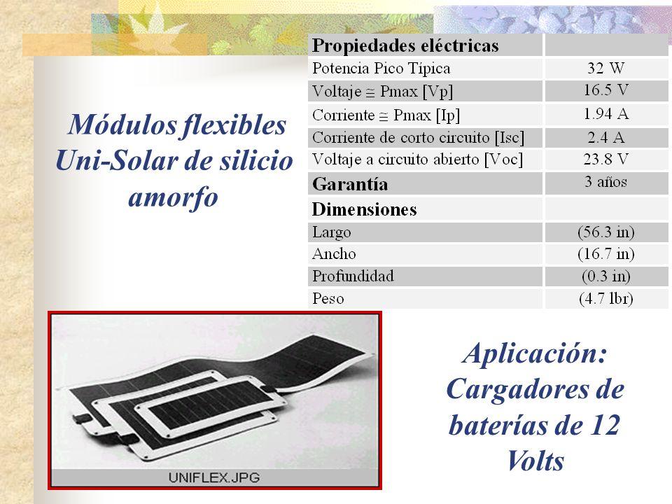 Módulos flexibles Uni-Solar de silicio amorfo
