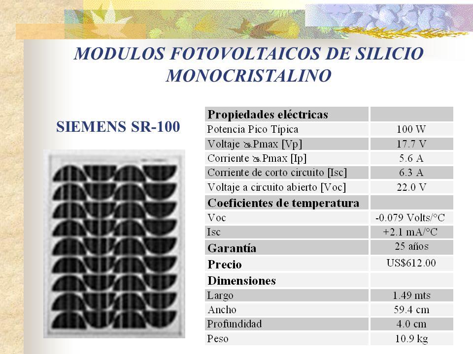MODULOS FOTOVOLTAICOS DE SILICIO MONOCRISTALINO