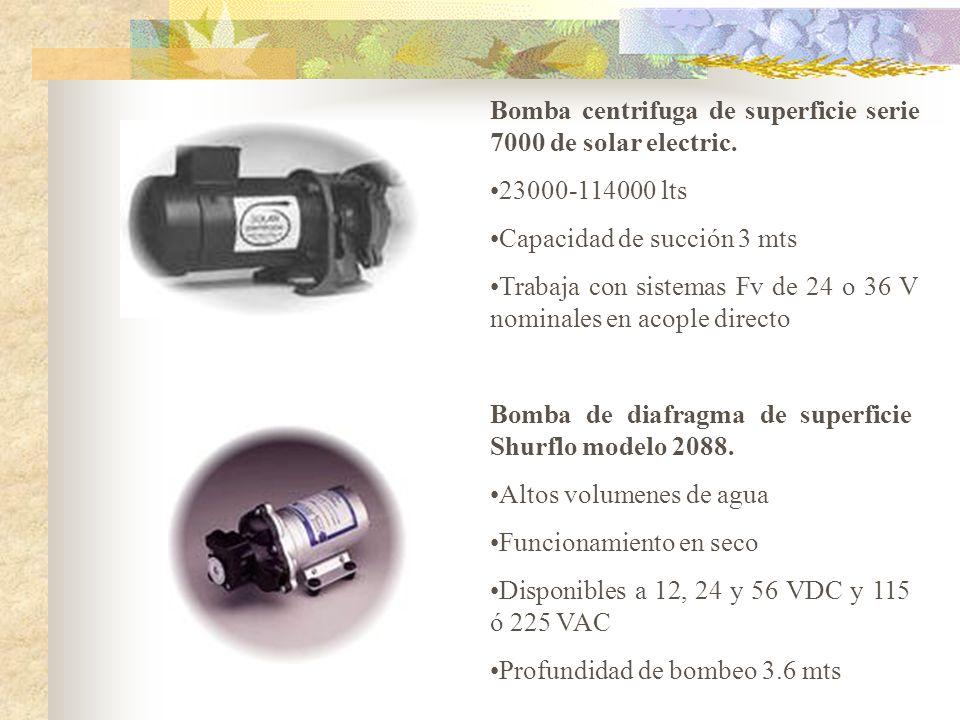 Bomba centrifuga de superficie serie 7000 de solar electric.