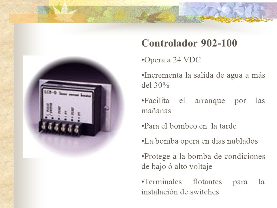 Controlador 902-100 Opera a 24 VDC