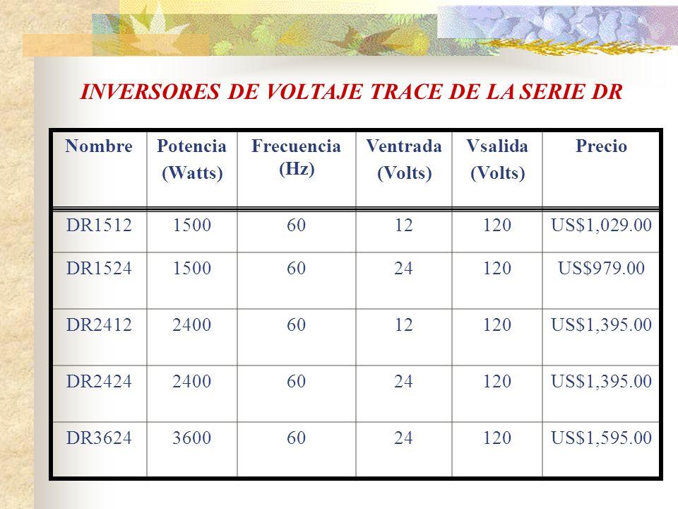 INVERSORES DE VOLTAJE TRACE DE LA SERIE DR