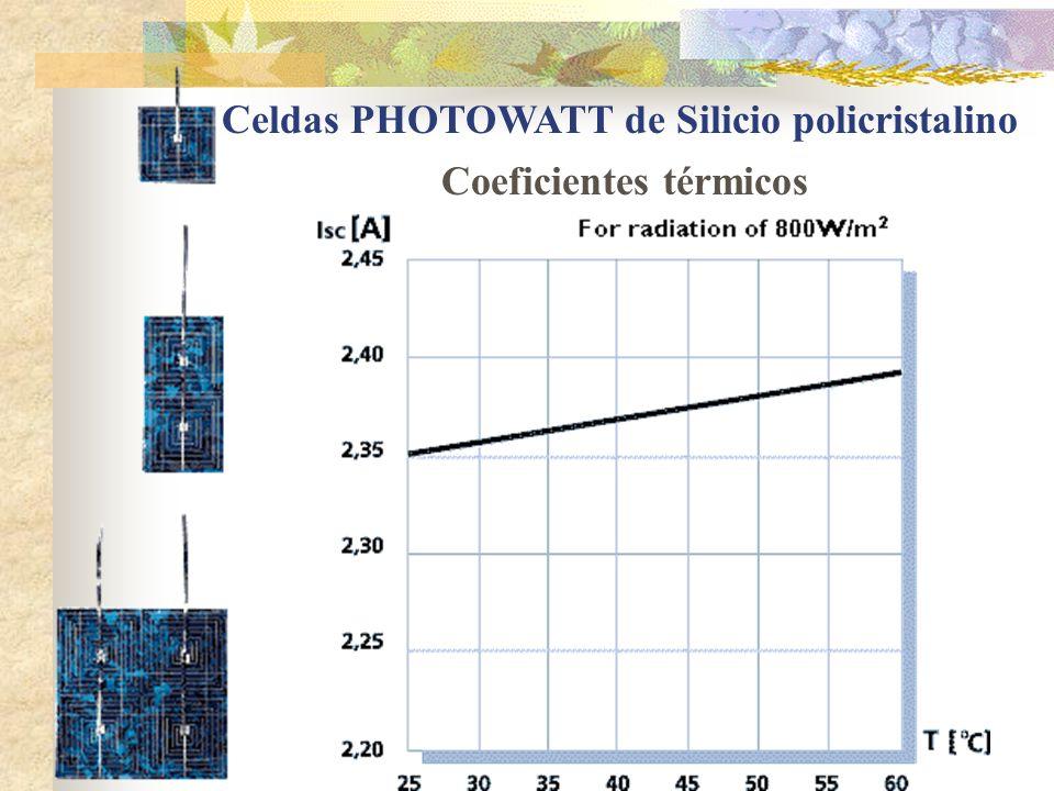 Celdas PHOTOWATT de Silicio policristalino