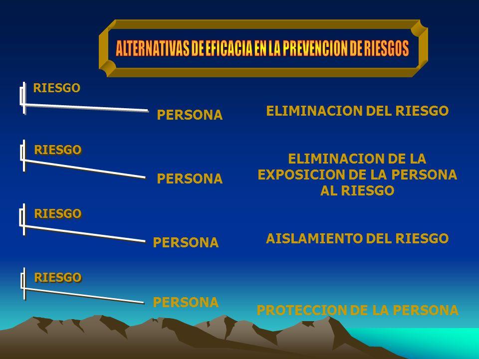 ALTERNATIVAS DE EFICACIA EN LA PREVENCION DE RIESGOS