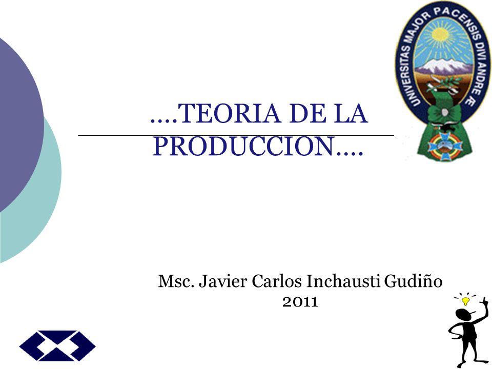 ….TEORIA DE LA PRODUCCION….