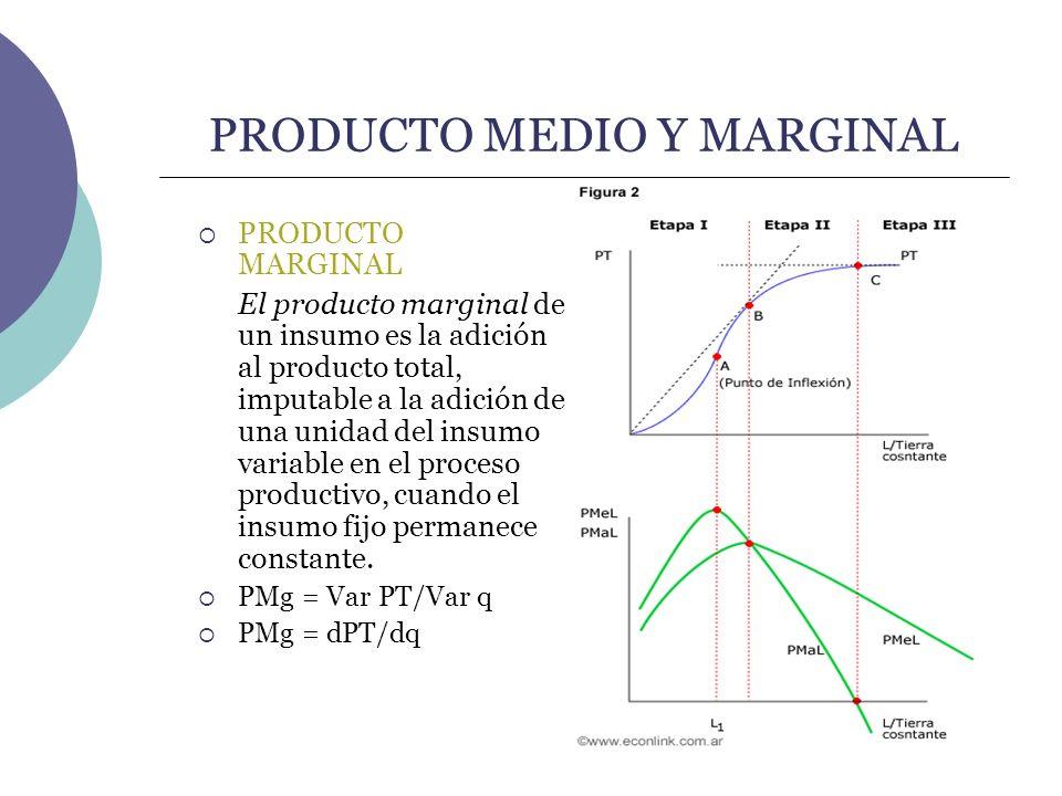 PRODUCTO MEDIO Y MARGINAL