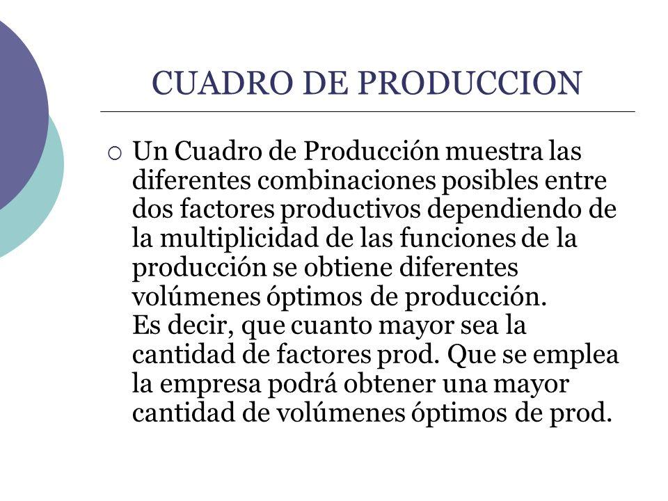 CUADRO DE PRODUCCION