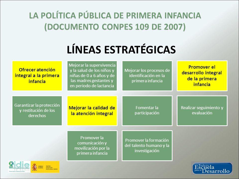 LA POLÍTICA PÚBLICA DE PRIMERA INFANCIA (DOCUMENTO CONPES 109 DE 2007)