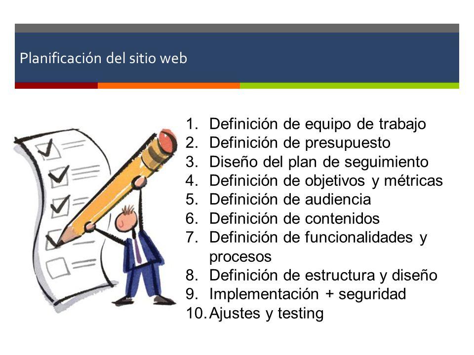 Planificación del sitio web