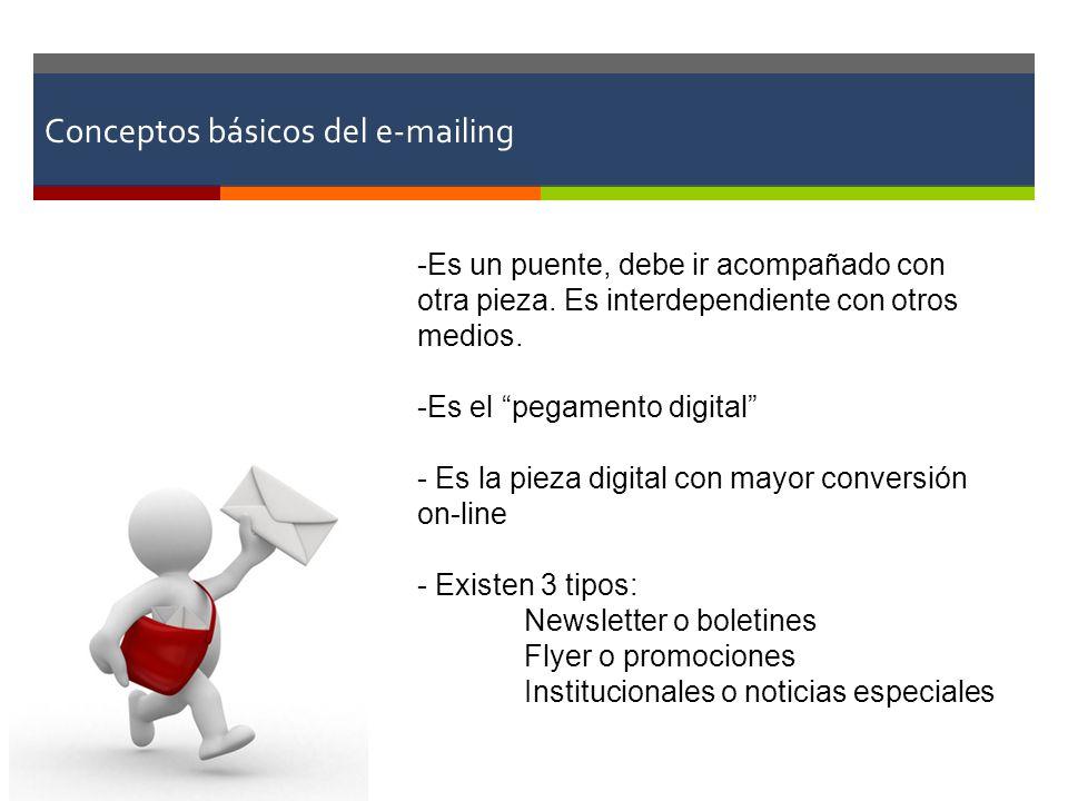 Conceptos básicos del e-mailing