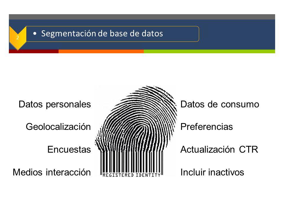 Segmentación de base de datos