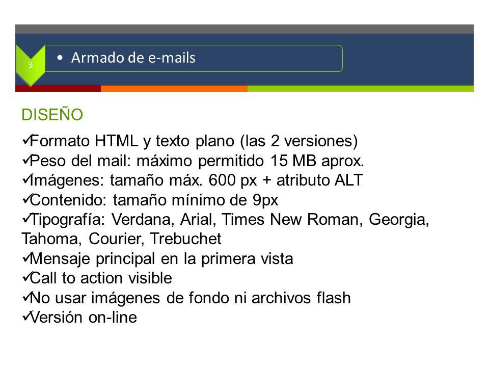 Formato HTML y texto plano (las 2 versiones)