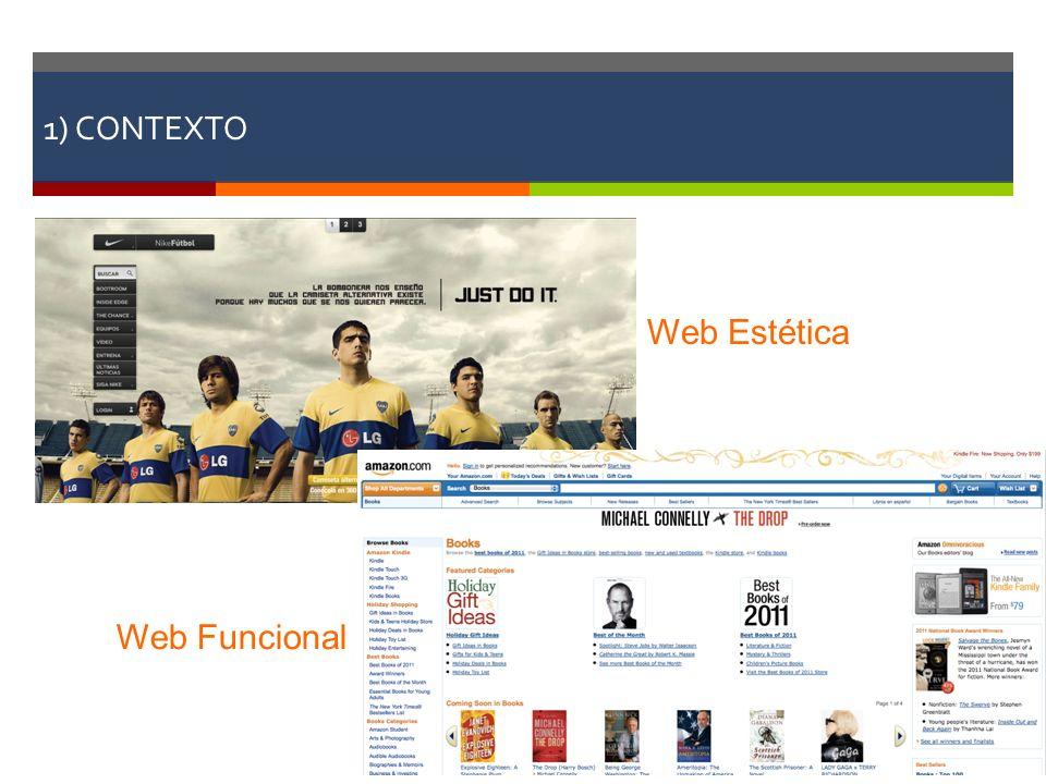 1) CONTEXTO Web Estética Web Funcional