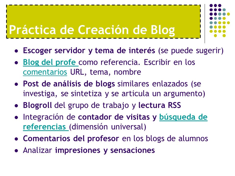 Práctica de Creación de Blog