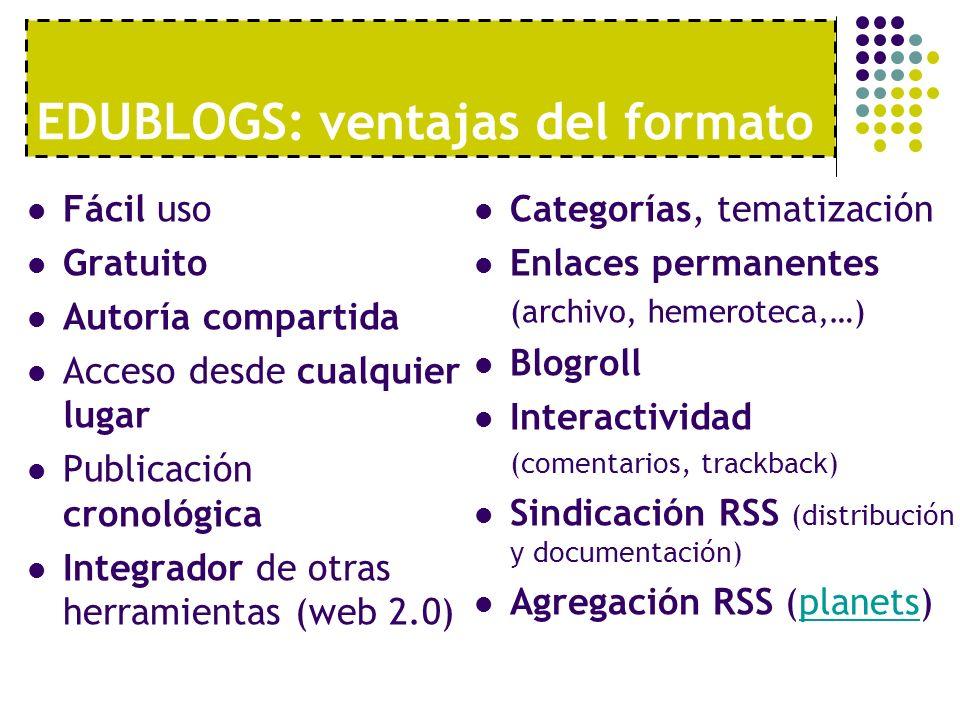 EDUBLOGS: ventajas del formato