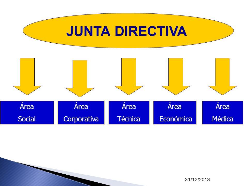 JUNTA DIRECTIVA Área Social Área Corporativa Área Técnica Área