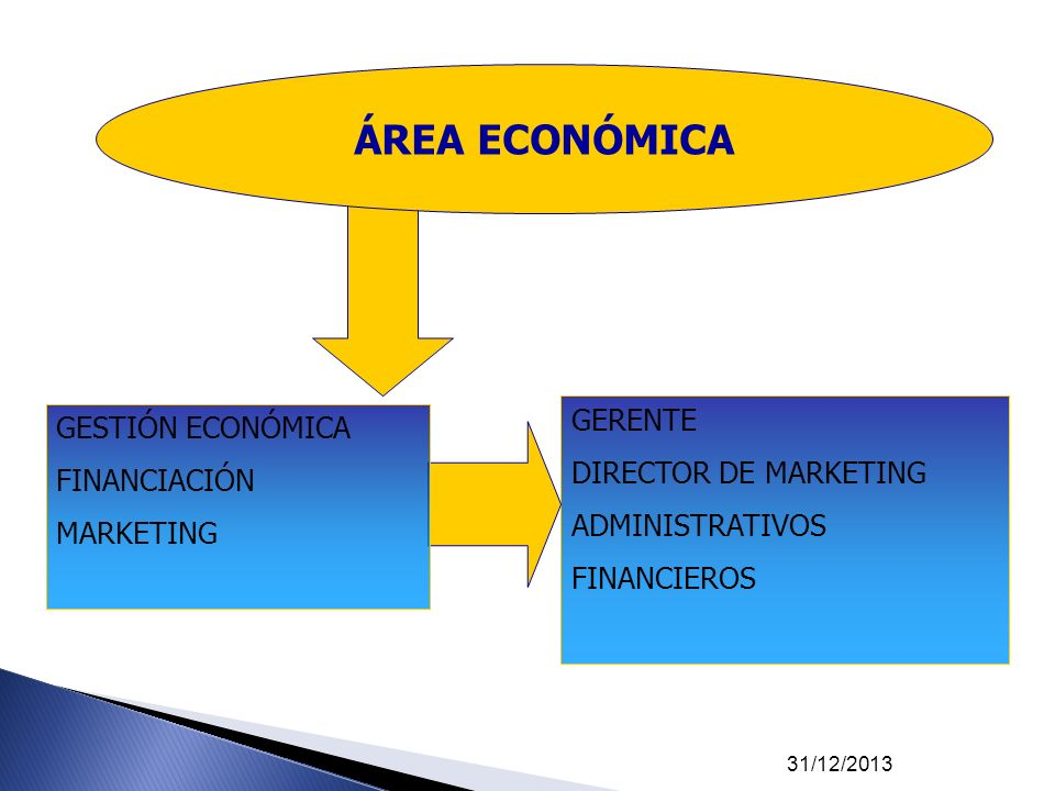 ÁREA ECONÓMICA GERENTE GESTIÓN ECONÓMICA DIRECTOR DE MARKETING
