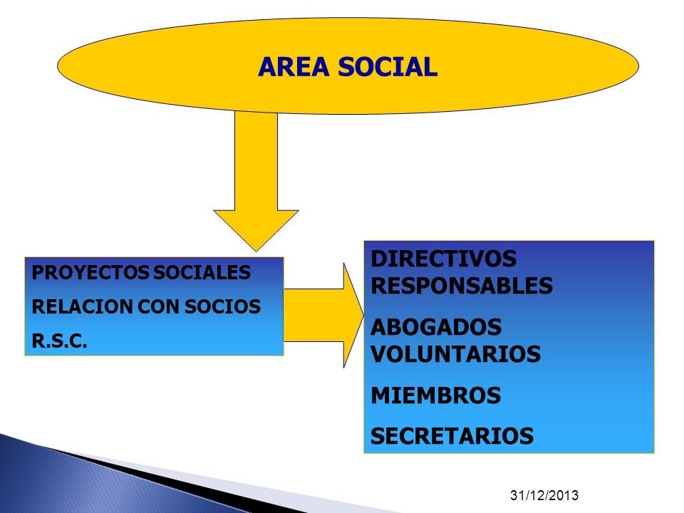 AREA SOCIAL DIRECTIVOS RESPONSABLES ABOGADOS VOLUNTARIOS MIEMBROS