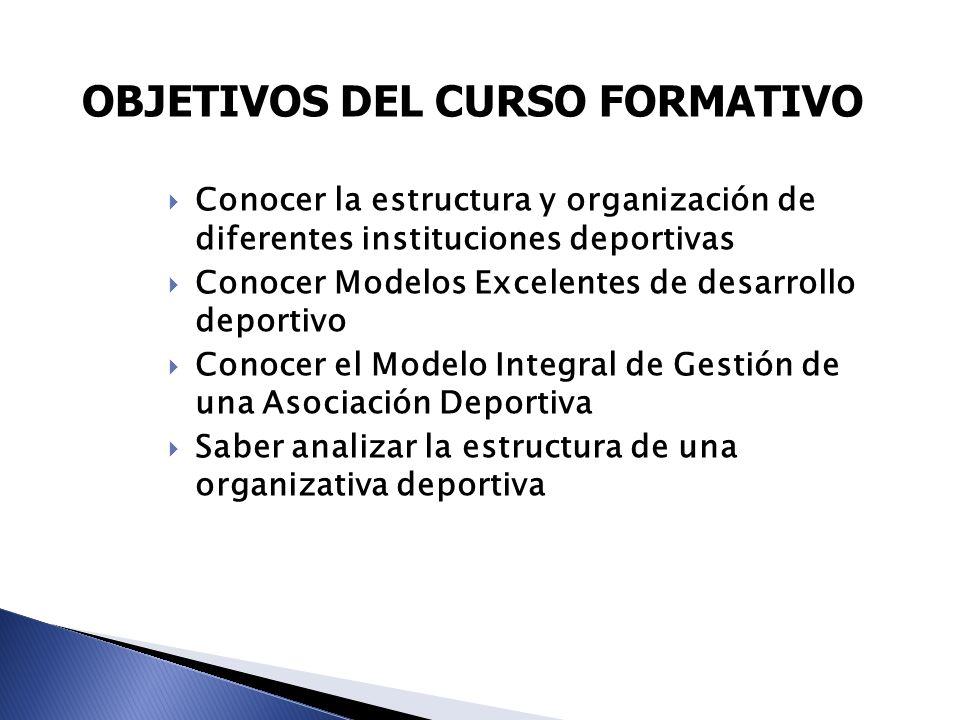 OBJETIVOS DEL CURSO FORMATIVO