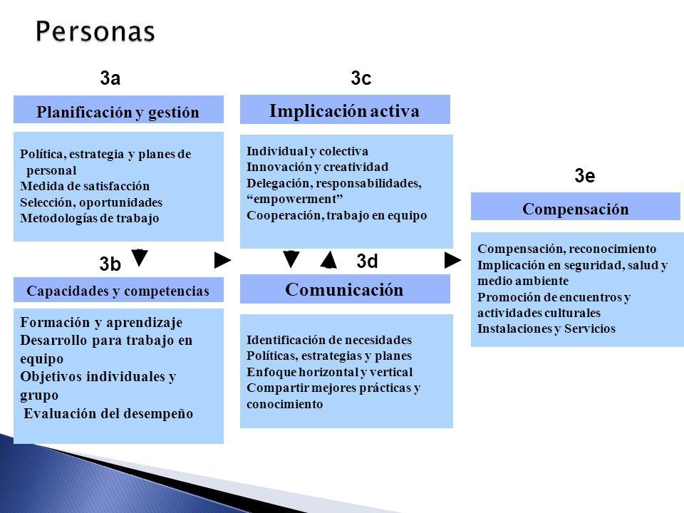 Planificación y gestión Capacidades y competencias