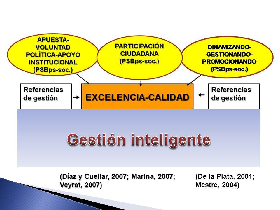 Gestión inteligente (Díaz y Cuellar, 2007; Marina, 2007; Veyrat, 2007)