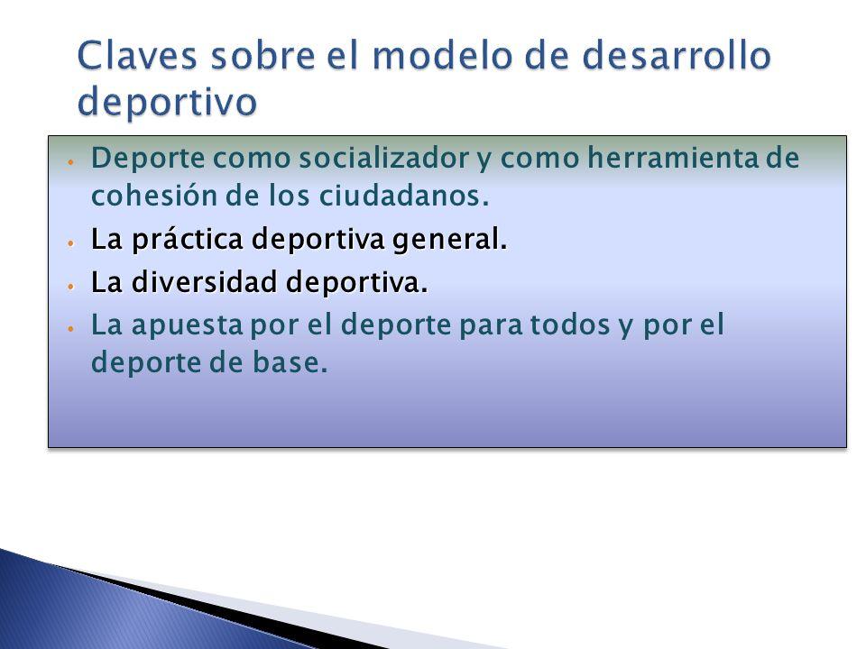 Claves sobre el modelo de desarrollo deportivo