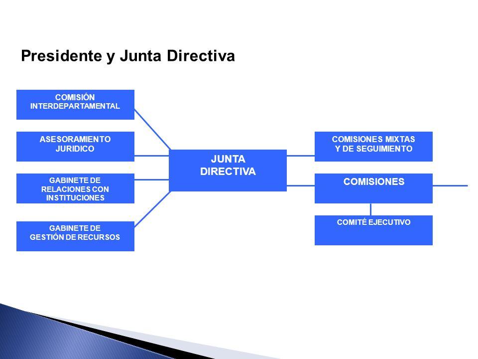 Presidente y Junta Directiva